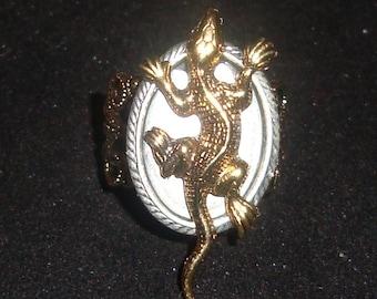 The Lizard King Brass Lizard Steampunk RING New by Sweetheartsinner