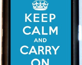 Keep Calm And Carry On Cigarette Case or Business Card Case or Wallet Survivor Affirmation British WW2 Slogan