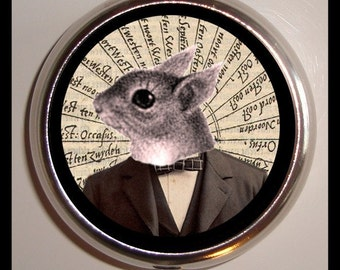 Squirrel Man Pill Box Case Victorian Steampunk Inspired Surreal birth control case