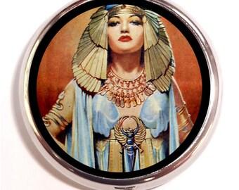 Egyptian Cleopatra Pill Box Pillbox Case Trinket Box