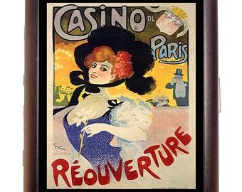 Victorian Paris Casino Poster Art Cigarette Case Business Card Case wallet French
