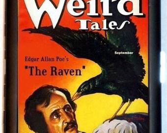 Edgar Allan Poe Cigarette Case Pulp Magazine Image Raven Goth Gothic Author Writer ID Business Card Credit Card Holder Wallet