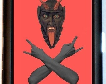 Krampus Devil Cigarette Case Business Card Case Wallet  Satan Satanism Satanic Goth Psychobilly Surreal Horror