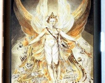 Satan In Glory William Blake Cigarette Case Business Card Holder Case Wallet Artwork Painting
