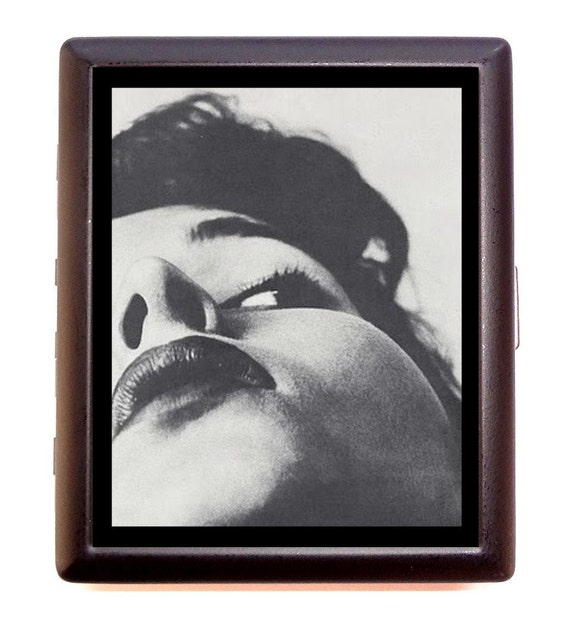 Surreal Photography Cigarette Case Woman's Face Photo Strange Pose & Angle ID Business Card Credit Card Holder Wallet