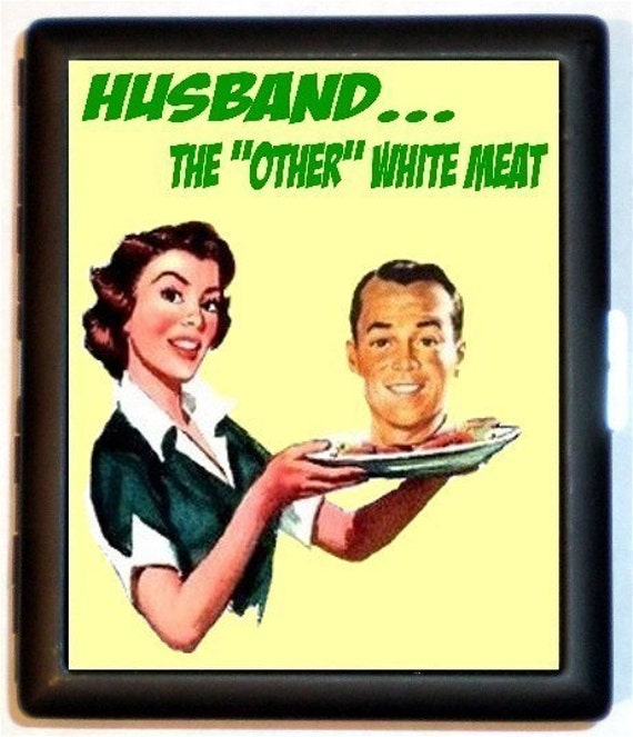 Angry 50s Housewife Puts Husbands Head On A By