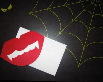 Fang You Very Much lip-shaped card