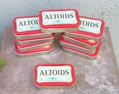 Altoids tins for upcycling. Lot of ten