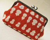 Handmade purse - gourds on red