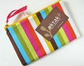 Rainbow stripes zipper pouch