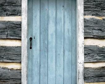 rustic home decor, door photography, blue decor, rustic decor, farmhouse decor,  rectangle, blue wall art, farm photography, The Blue Door