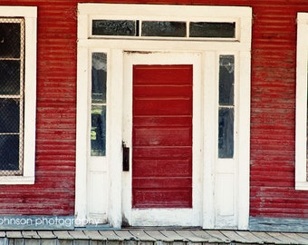 red rustic home decor, burnt corn alabama photography, country wall art, farm decor, door photography, The Red Porch