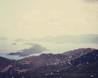 caribbean photograph, st thomas, virgin islands, landscape blue tropical home decor wall art island photography