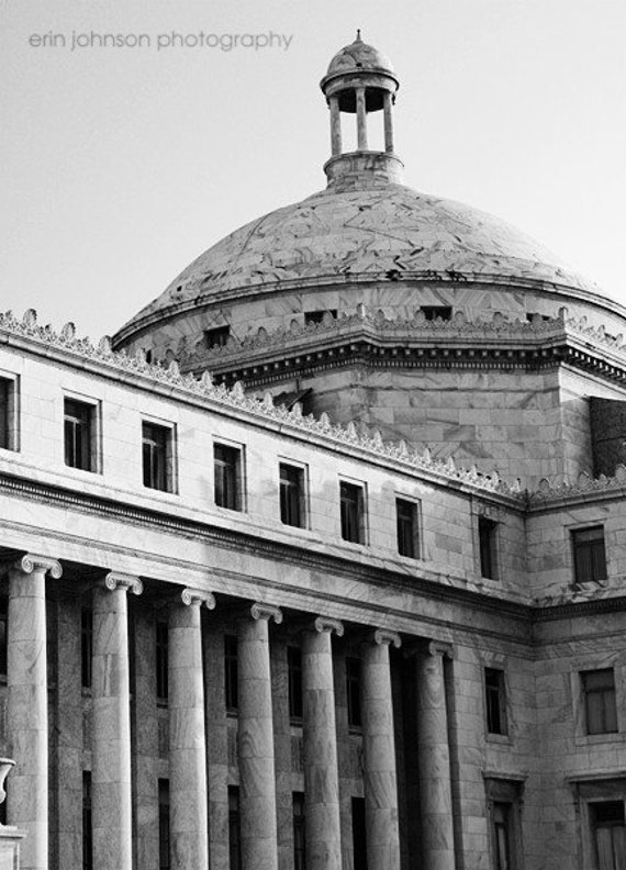 san juan puerto rico, architecture photography, caribbean wall art, black and white decor, the capital
