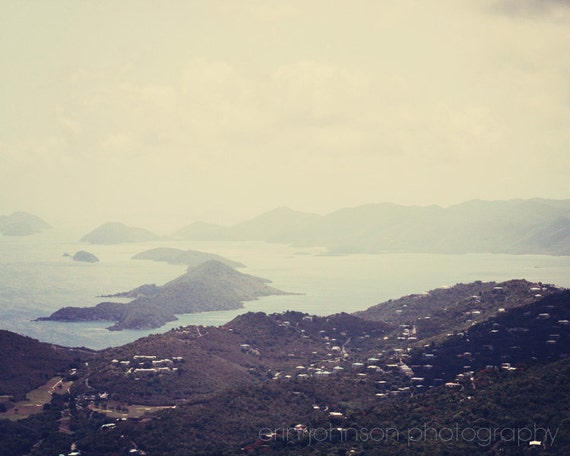 caribbean photograph, st thomas, virgin islands, landscape blue tropical home decor wall art island photography