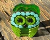 RESERVED for Tokyo51 - Green Owl Napkin Holder