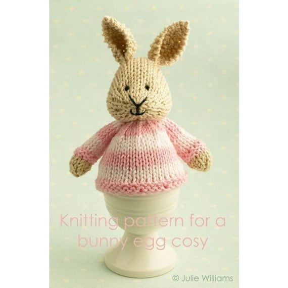 knitting pattern for a bunny egg cosy