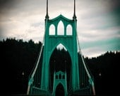 Portlands' St. Johns Bridge, gothic PDX