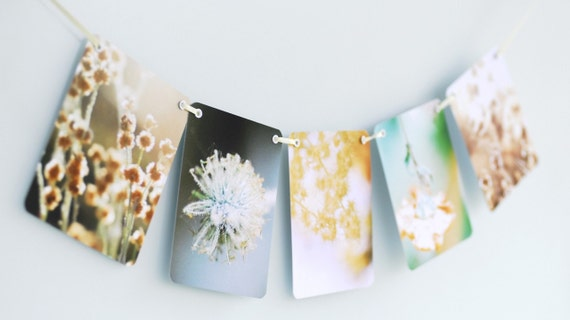 Littleput Vignette- Summer Time Love.  A string of photographs for your wall in green and gold and warm.
