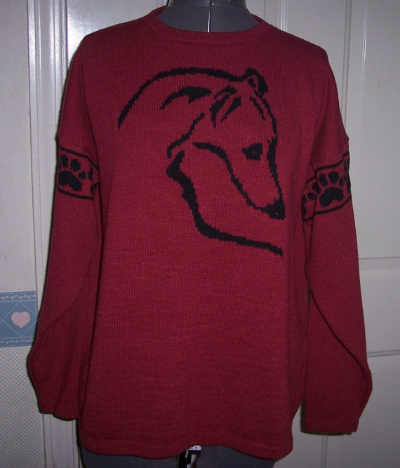 Knitting Patterns For Greyhound Sweaters : CUSTOM KNITTED GREYHOUND OR WHIPPET SWEATER by CustomKnits ...