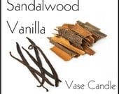 Sandalwood Vanilla Candle Refill for Vase Candle