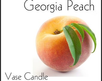 Georgia Peach Vase Candle 2.8 oz Wax Melts - Highly Scented, Hand Poured Fresh, Premium Paraffin Soy Blend Wax Tarts, 25 Hour, Color Free