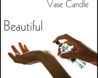 Beautiful Vase Candle 2.8 oz Wax Melts - Highly Scented, Hand Poured Fresh, Premium Paraffin Soy Blend Wax Tarts, 25 Hour, Color Free