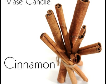 Cinnamon Vase Candle 2.8 oz Wax Melts - Highly Scented, Hand Poured Fresh, Premium Paraffin Soy Blend Wax Tarts, 25 Hour, Color Free