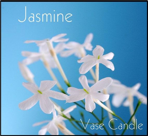 jasmine vase candle refill scented soy paraffin wax paper. Black Bedroom Furniture Sets. Home Design Ideas