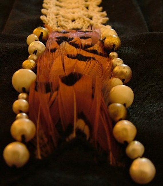 The Black Pleat - Handmade Neck Decoration