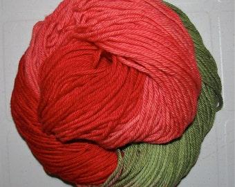 Hand dyed superwash DK yarn LAST ROSE