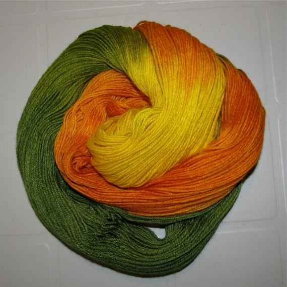 BLITZ SALE Handdyed Merino and Silk Sock Yarn FRUITY