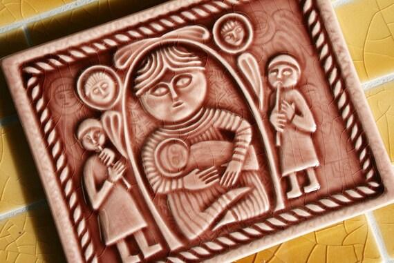 Madonna and Child - Nativity Scene - Handmade Tile