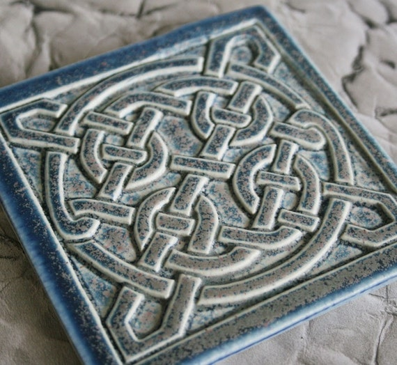 Celtic Knot Handmade Tile Kitchen Bath Fireplace