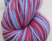 END OF SUMMER SALE - Crush Hand Dyed Superwash Merino Sock Yarn