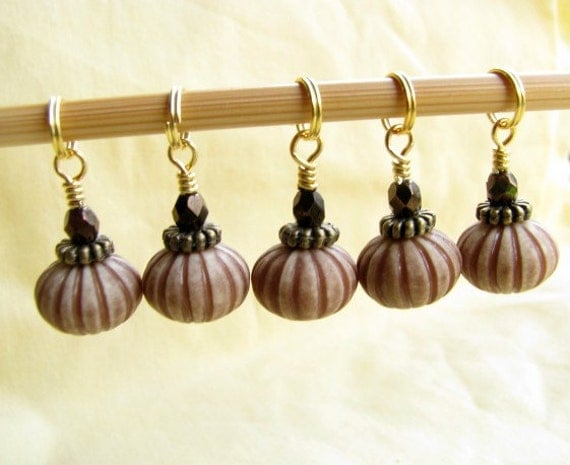 Earthy Melon Stitch Markers