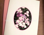 Kathie McCurdy - Pink Dogwoods 5x7 Blank Greeting Cards - Set of 8