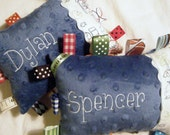 RESERVED for lmckinney - DYLAN/SPENCER Patchwork Chewy Pillows