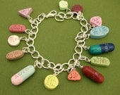 Prescription for FULFILLMENT imprinted Pill charm bracelet nurse medical pharmacist