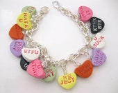 Love Bites  SNARK  bracelet  anti Valentines Day