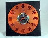 Laser Etched 80s 8bit Video Game Arcade Clock