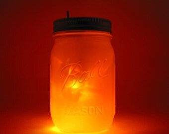 Sun and Moon Mason Jar Night Light