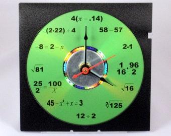 Math Equation Clock (Green)