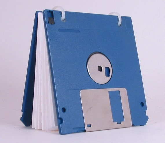 Floppy Disk Notepad BLUE