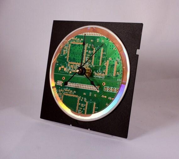 Computer Circuit Board Desk Clock