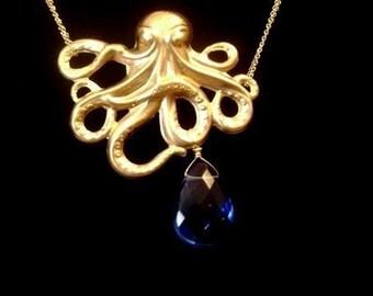 Sea Sapphire Necklace