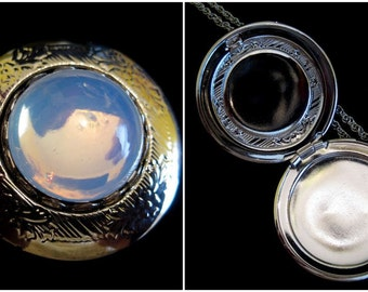 The Silver Moon - Double Locket Necklace