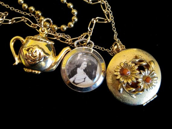 Stranded, Afternoon Tea - Vintage Locket Necklace