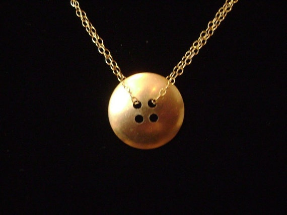 Brass Button Necklace