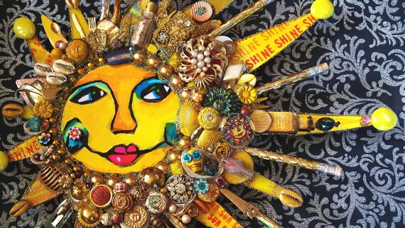 RESERVED  The Fantastic Bead Mosaics SUN Series  My Golden SUNshine